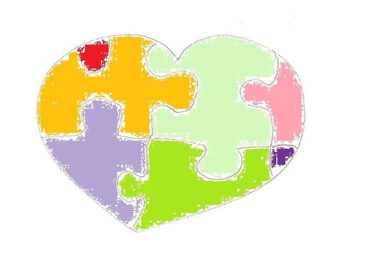 Corazon puzle colores copia